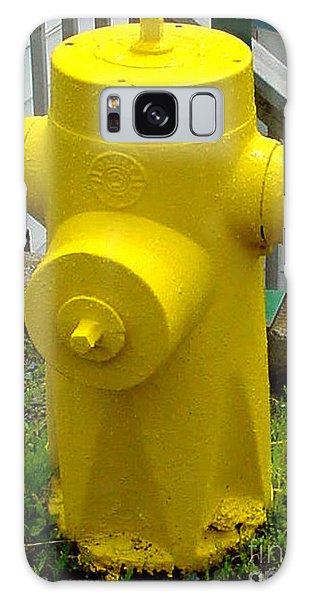 Yellow Hydrant Galaxy Case