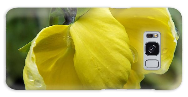 Galaxy Case featuring the photograph Yellow In Rain by Gene Cyr