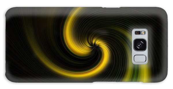 Yellow Into Black Galaxy Case