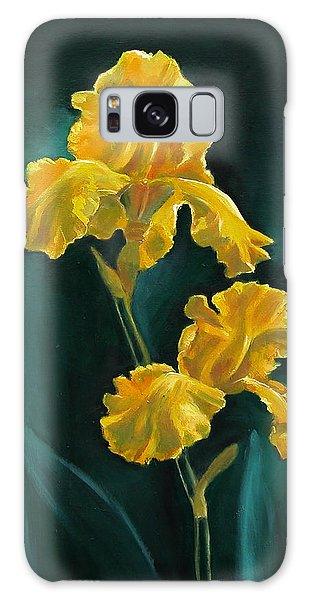 Yellow Iris Galaxy Case