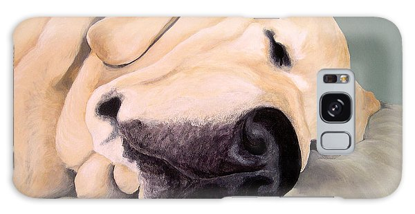 Yellow Lab - A Head Pillow Is Nice Galaxy Case