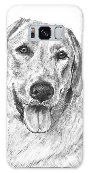 Yellow Lab Head And Shoulders Galaxy Case