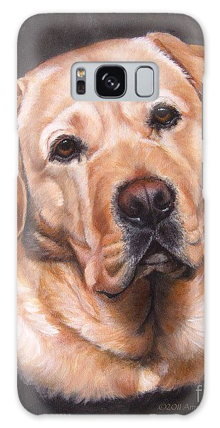 Yellow Labrador Portrait - Dark Yellow Dog Galaxy Case
