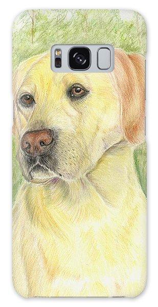 Yellow Labrador Retiever Galaxy Case by Ruth Seal