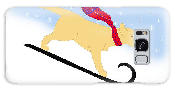 Yellow Labrador Snowboard Dog Galaxy Case