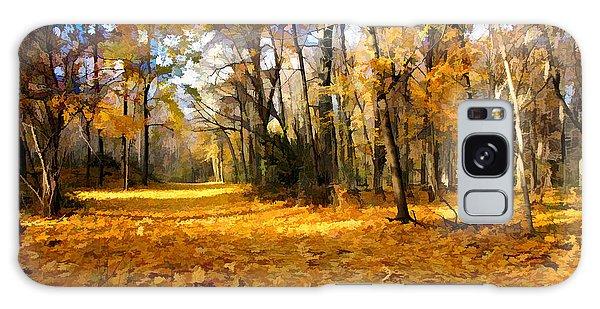 Yellow Leaf Road Galaxy Case