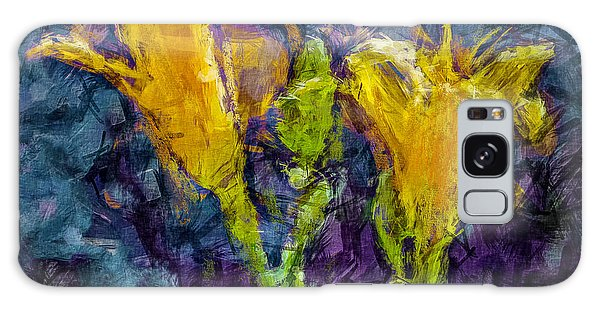 Yellow Lilies. Galaxy Case by Celso Bressan