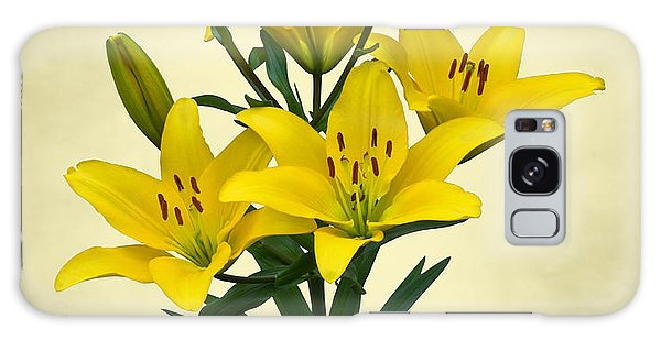 Yellow Lilies Galaxy Case by Jane McIlroy