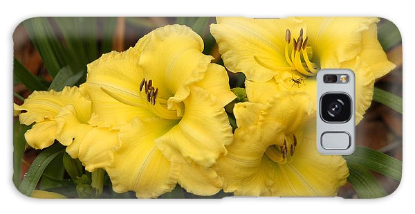 Yellow Lillies Galaxy Case by Donald Williams