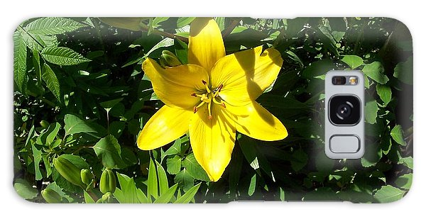 Yellow Lilly Galaxy Case