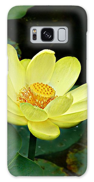Yellow Lotus Galaxy Case by William Tanneberger