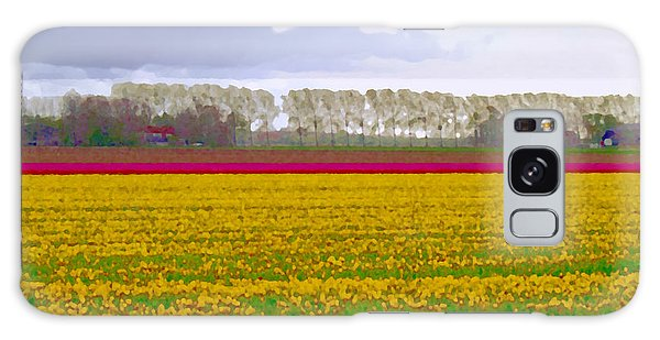 Galaxy Case featuring the photograph Yellow Meadow by Luc Van de Steeg