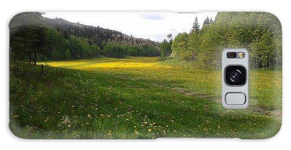 Yellow Meadow Galaxy Case