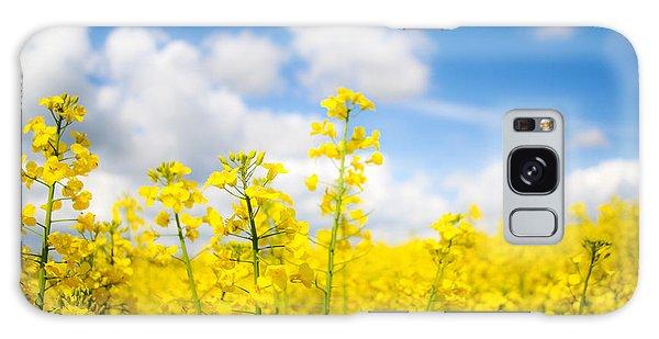 Yellow Mustard Field Galaxy Case