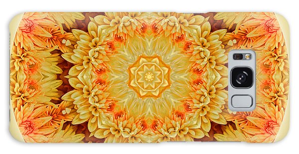 Yellow Orange Mum Mandala Galaxy Case