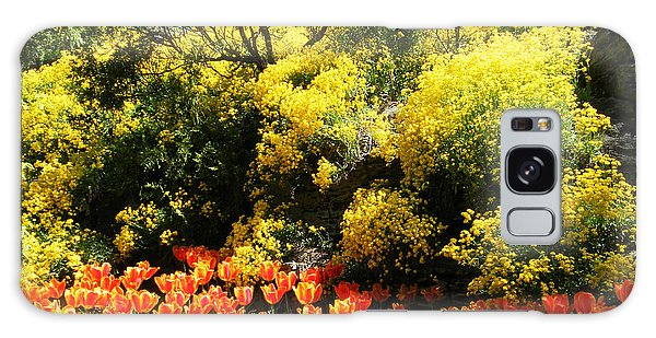 Yellow Orange - Springtime Galaxy Case by Phil Banks
