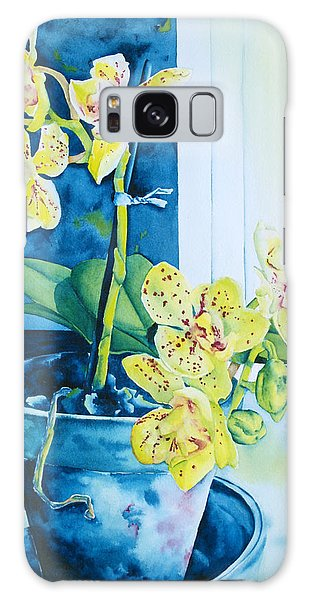 Galaxy Case - Yellow Orchid by Zuzana Vass