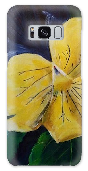 Yellow Pansy Galaxy Case