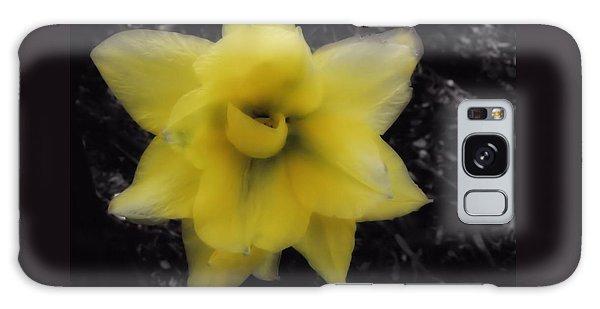 Yellow Parrot Tulip Galaxy Case