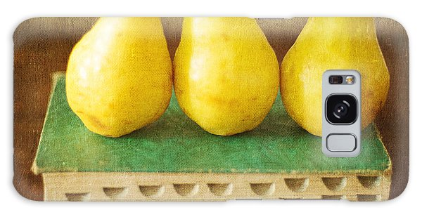 Yellow Pears And Vintage Green Book Still Life Galaxy Case