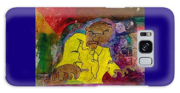 Yellow Piano Man Galaxy Case by Catherine Redmayne