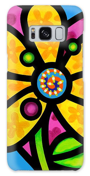 Yellow Pinwheel Daisy Galaxy Case