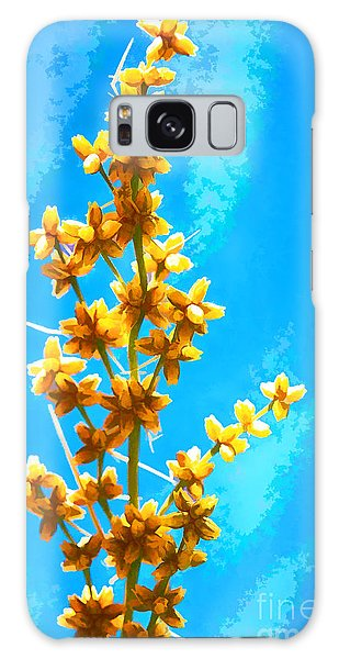 Yellow Plant Galaxy Case