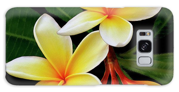 Yellow Plumeria Galaxy Case