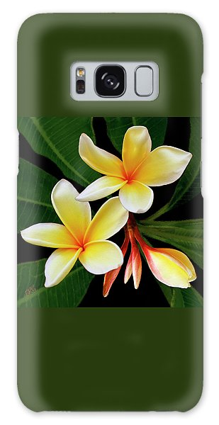 Yellow Plumeria Galaxy Case by Ben and Raisa Gertsberg
