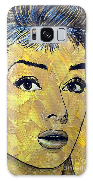 Yellow Pop Audrey Galaxy Case by Malinda Prudhomme