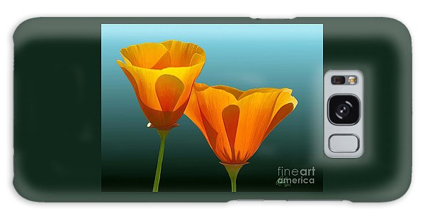 Yellow Poppies Galaxy Case