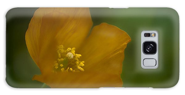Yellow Poppy Galaxy Case