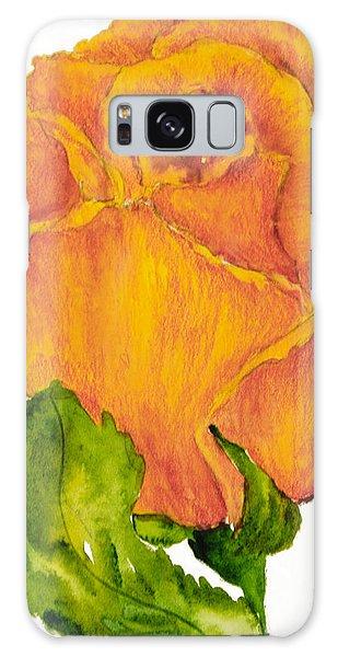 Yellow Rose Bud Galaxy Case