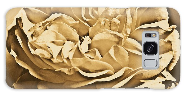 Yellow Rose Of Texas Floral Decor Square Format Rustic Digital Art Galaxy Case