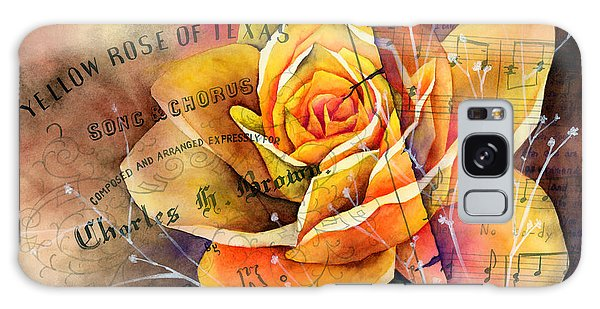 Bloom Galaxy Case - Yellow Rose Of Texas by Hailey E Herrera