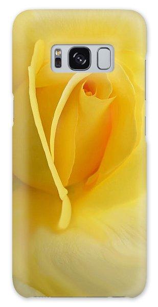 Yellow Rose Portrait Galaxy Case