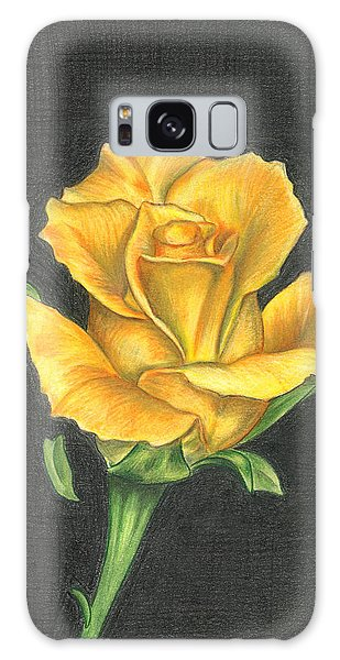 Yellow Rose Galaxy Case by Troy Levesque