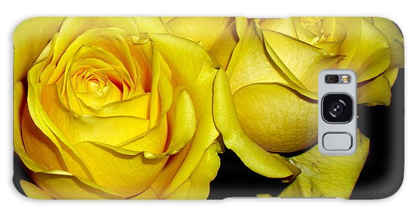Yellow Roses Galaxy Case by Fred Wilson