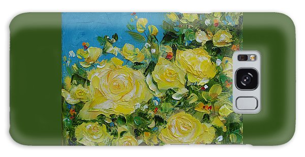 Yellow Roses Galaxy Case by Judith Rhue