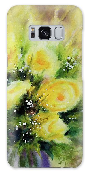 Yellow Roses Galaxy Case by Kathy Braud