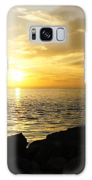 Yellow Sky Galaxy Case by Laurie Perry