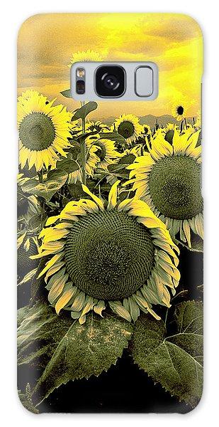 Yellow Sky Yellow Flowers. Galaxy Case