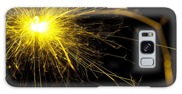 Fireworks Galaxy Case - Yellow Sparkle by Samuel Whitton