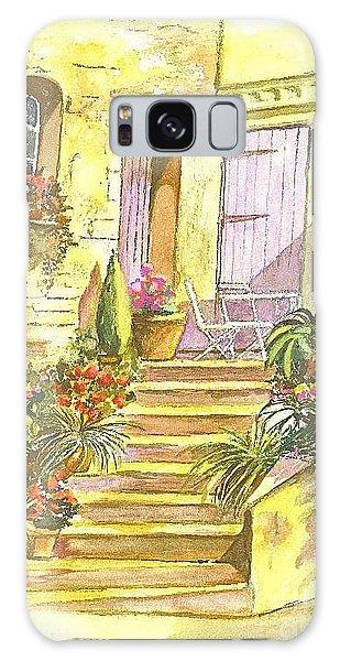 Yellow Steps Galaxy Case by Carol Wisniewski