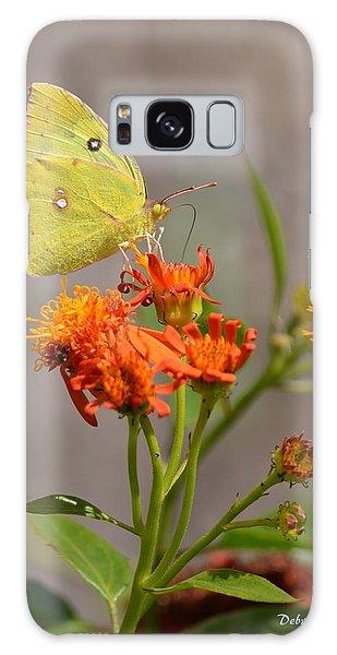 Yellow Sulphur Butterfly Galaxy Case by Debra Martz