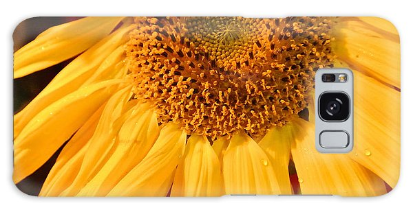 Yellow Sunflower Galaxy Case