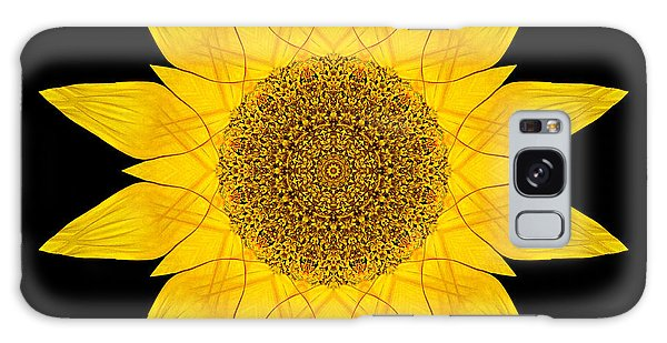 Yellow Sunflower X Flower Mandala Galaxy Case