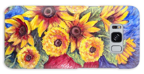Yellow Sunflowers Galaxy Case