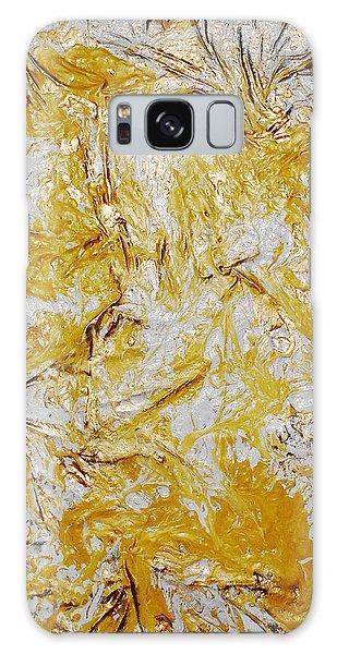 Yellow Sunshine Galaxy Case by Angela Stout
