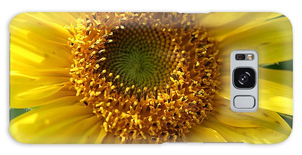 Yellow Sunshine Galaxy Case by Neal Eslinger
